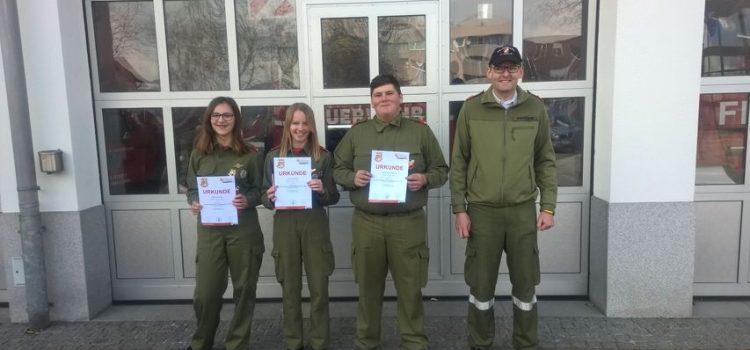 6.4.2019 Feuerwehrjugend – Leistungsabzeichen in Gold