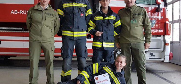 23.11.2019 Erfolgreiche Teilnehmer bei Atemschutzleistungsprüfung